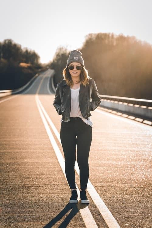 Plus-Size Faux-Leather Jacket